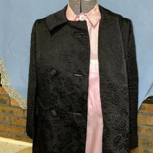 Vintage 1960's Embroidered Coat, Size 6, Lovely!